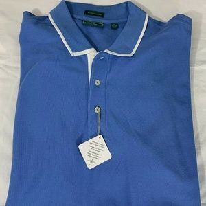 Outter Banks XL Mens Polo Blue Egyptian Cotton NEW